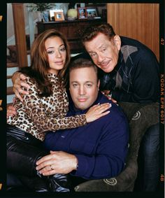 The King of Queens tv show cast: Leah Remini, Kevin James, & Jerry Stiller. To locate: bout 10 miles from Manhattan to Heffernan house. 510 Longview Ave. Cliffside, New Jersey. Take bus, it's cheaper. Info of location came from, Iamnotastalker.com