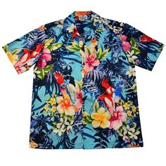 Just listed on our store, the Wild Tropic Blue .... http://papayasun.com/products/wild-tropic-blue-cotton-hawaiian-shirt?utm_campaign=social_autopilot&utm_source=pin&utm_medium=pin