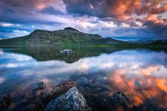Midnight sun shining to the clouds on above Fell Malla (Mallatunturi), Kilpisjärvi, Finnish Lapland by Lauri Lohi on Reflection Photography, Landscape Photography, Travel Photography, Midnight Sun, Abstract Images, Unique Image, Photos Of The Week, Finland, Tourism