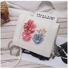 3D Flower White Shoulder Bags PU Square Crossbody Bags Shoulder Training, White Shoulder Bags, Cheap Crossbody Bags, Kitchen Dining, Messenger Bag, 3d, Flowers, Shoulder Workout, Royal Icing Flowers