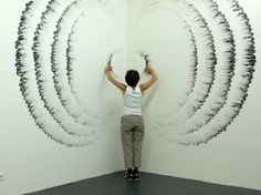 Judith Ann Braun makes art with her fingertips and carbon media