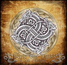 Ash-Harrison - knotwork dragon
