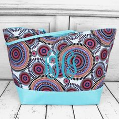 Use this as a shopping tote or a beach bag.either way, it's sure to pop! Beach Weather, Spring Break, Diaper Bag, Monogram, Pop, Retro, Canvas, Bags, Shopping