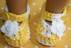 Starburst yellow and white marbled cotton crochet baby girl mary janes booties shoes sparkly flower photo prop shower gift easter. $15.99, via Etsy.