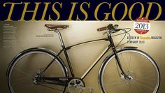 Outside Magazine selected Shinola bikes as an Editor's Choice for their February 2013 issue.