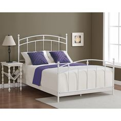 Pogo Full Size Powdered Sugar Finish Bed Frame | Overstock.com Shopping - Great Deals on Kids' Beds