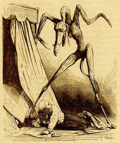"""""""Dictionnaire Infernal"""" - Written by Jacques Collin de Plancy, illustrations by Louis Le Breton & M. Jarrault"""