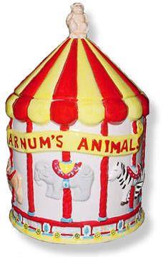 Nabisco Barnums Animal Crackers Carousel...cookie jar