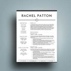 Contemporary Resume Templates Modern Resume Template 1 2 & 3 Pg  Pinterest  Modern Resume .