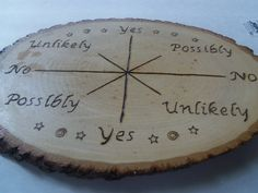 pendulum board wood burned pendulum board by NatureSongCreations, $75.00