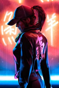 Awesome Japanese Cyberpunk woman female in tech outfit concept art illustration fantasy scifi character design inspiration idea 1 новое сообщение