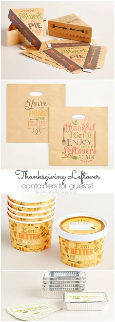 (affiliate) Do you always have Thanksgiving leftovers? Now you can send you guests home leftovers in style. These World Market leftover boxes are too cute!