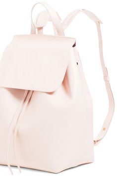 26a35b49bd0 Light Pink Faux Leather Backpack  genuinepeople  genuine-people  backpack   pinkbackpack