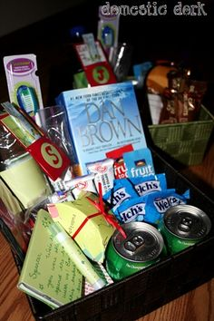 Guest room goodie basket - fill it with their favorites for a special surprise.