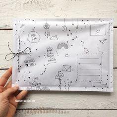 DIY Briefumschlag – Invitation Ideas for 2020 Diy Envelope, Envelope Design, Mail Art Envelopes, Art Postal, Pen Pal Letters, Karten Diy, Decorated Envelopes, Origami Tutorial, Origami Paper
