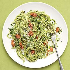 Spaghetti with Parsley Pesto and Sausage - 5-Ingredient Summer Recipes - Cooking Light