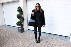 SAINT LAURENT Saint Laurent Handbags, Saint Laurent Bag, J Brand Jeans, Boots For Sale, Black Suede, Fur Coat, Style Inspiration, Jackets