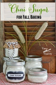 Add warm spiciness to your beverages and your fall baking  with this chai sugar mixture.