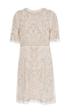 Linear Motif Dress by Needle & Thread | Moda Operandi