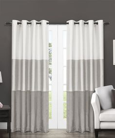 Another great find on #zulily! Dove Gray Chateau Stripe Curtain Panel - Set of Two by Exclusive Home #zulilyfinds
