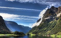 Fjord in Sognefjord, Norway