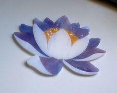 WATERLILY LOTUS Pre cut Stained Glass Art Mosaic Inlay Kit DIY Koi Pond Stone. Many original designs selling on ebay