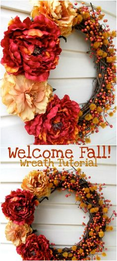Quick And Simple Fall Wreath