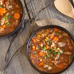 One of my favourite soup recipes Italian Turkey Burger Soup, both healthy and hearty made with lean ground turkey. Turkey Recipes, Soup Recipes, Dinner Recipes, Cooking Recipes, Dinner Ideas, Easy Cooking, Crockpot Recipes, Easy Soups To Make, Gourmet