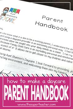 Family childcare basic parent handbook template my how to make a daycare parent handbook fandeluxe Gallery