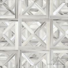 Marshall, a waterjet stone mosaic, shown in honed Horizon, is part of the Parquet Line by Sara Baldwin for New Ravenna Mosaics.