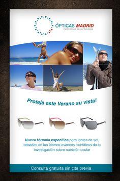 Diseño de folleto Flyers Ópticas Madrid                              …