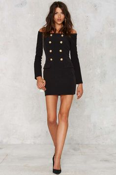 Jackie Off-the-Shoulder Mini Tux Dress - Sale: Newly Added | Sale: 20% Off | Going Out | LBD | Dresses | Off The Shoulder