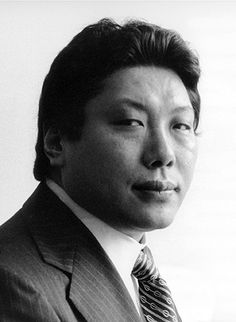 Black and white portrait of Chogyam Trungpa Rinpoche.