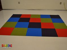 example of colorful carpet from Sharing Kindergarten