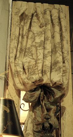 Love this curtain!  (Design and fabric from Three French Hens)