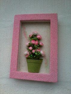 Quadro jateado botão de rosa