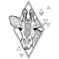 Giraffe Design by Rebekka Rekkless via @rebekkarekkless on Instagram. Tattoo apprentice at Adorned Tattoo, Dorset UK. https://www.facebook.com/AdornedTattoo