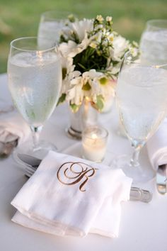 classic monogram | Mary Rosenbaum #wedding