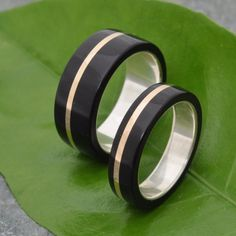 Oro Plano Wood Ring  ecofriendly wedding band by naturalezanica handmade with recycled silver and recycled gold