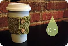 H i-ohh! Do you know how to knit? I sorta can, but I'm still in the hands-tangled-in-yarn-and-cursing stage. This little coffee cozy ...