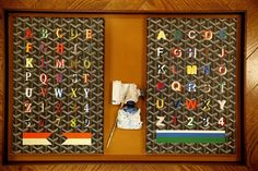 Alphabet boards showing different fonts and sizes are seen in the Goyard store on Tuesday, March 19, 2013 in San Francisco, Calif. Photo: Lea Suzuki, The Chronicle