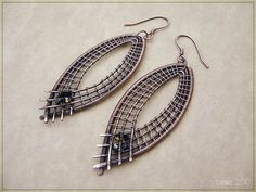 Crossed Wires Jewelry - From Bead Weaving to Wire Wrapping: Wire Wrapped Copper Earrings
