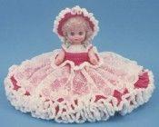"0798 Crochet Pattern 13"" JENNIFER Bed Doll...I remember these!!"