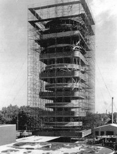 S.C. Johnson Research Tower (under construction). Frank Lloyd Wright. One of my all-time favorite architects.