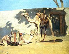 alberto pasini - Camels Resting