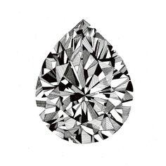 Pear-cut Diamond Print. £10.00, via Etsy.
