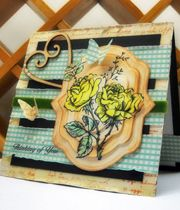 Splitcoaststampers : Stamping, Rubber Stamps, Card Making & Stamper Community -   A Pyramid card (or telescoping type of card)
