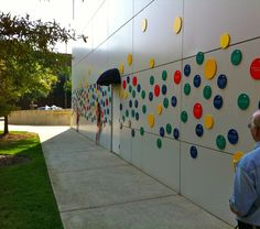 colorful donor recognition wall | Here are two exterior wall examples that stood out. The first from the ...
