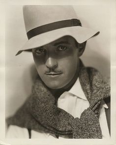 Ramon Navarro vintage photographic portrait by George Hurrell.
