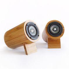 bamboo forest speakers #ecofriendly #productdesign dotandbo.com